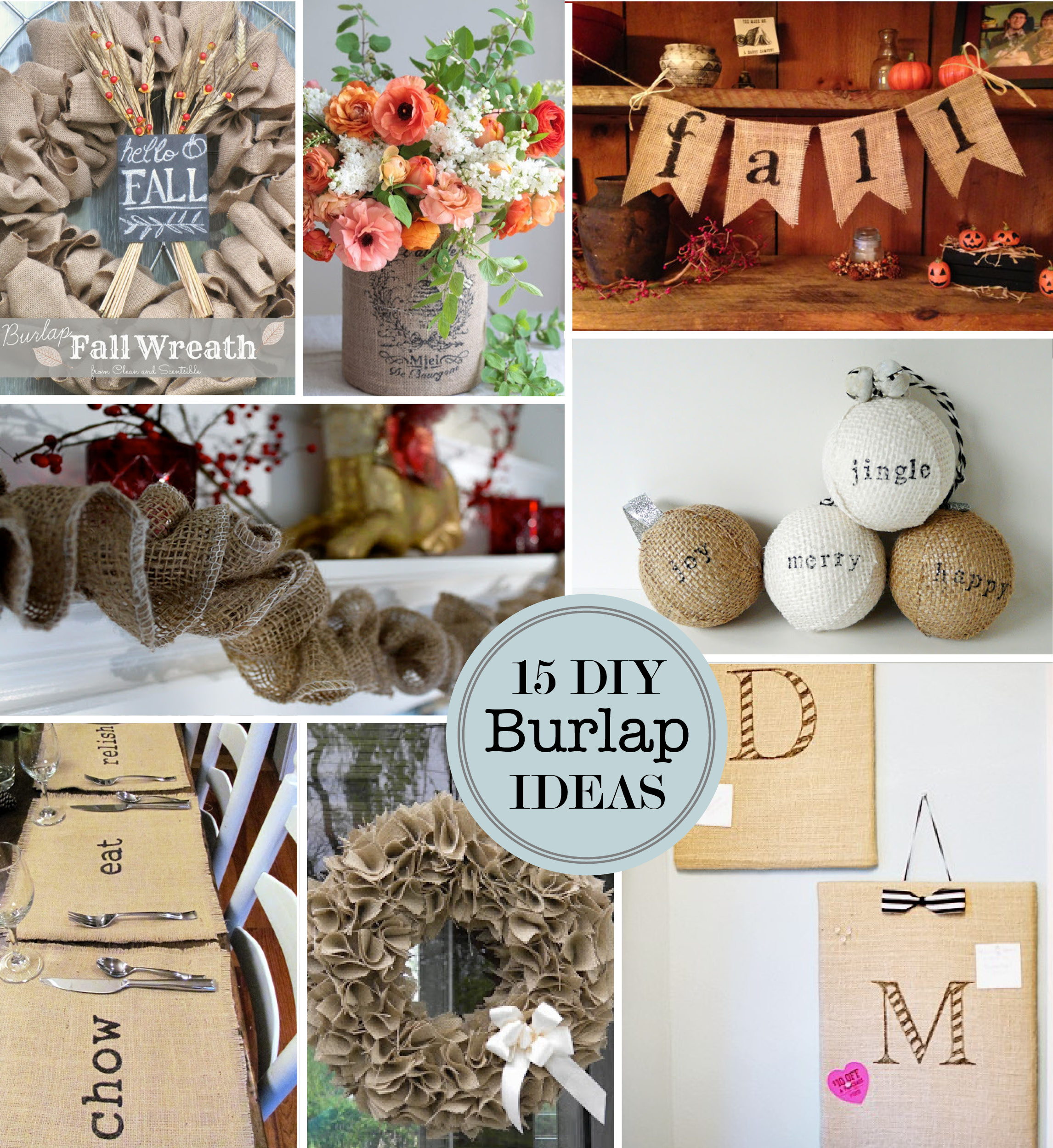 15 DIY Burlap Craft Ideas  Perpetually Daydreaming
