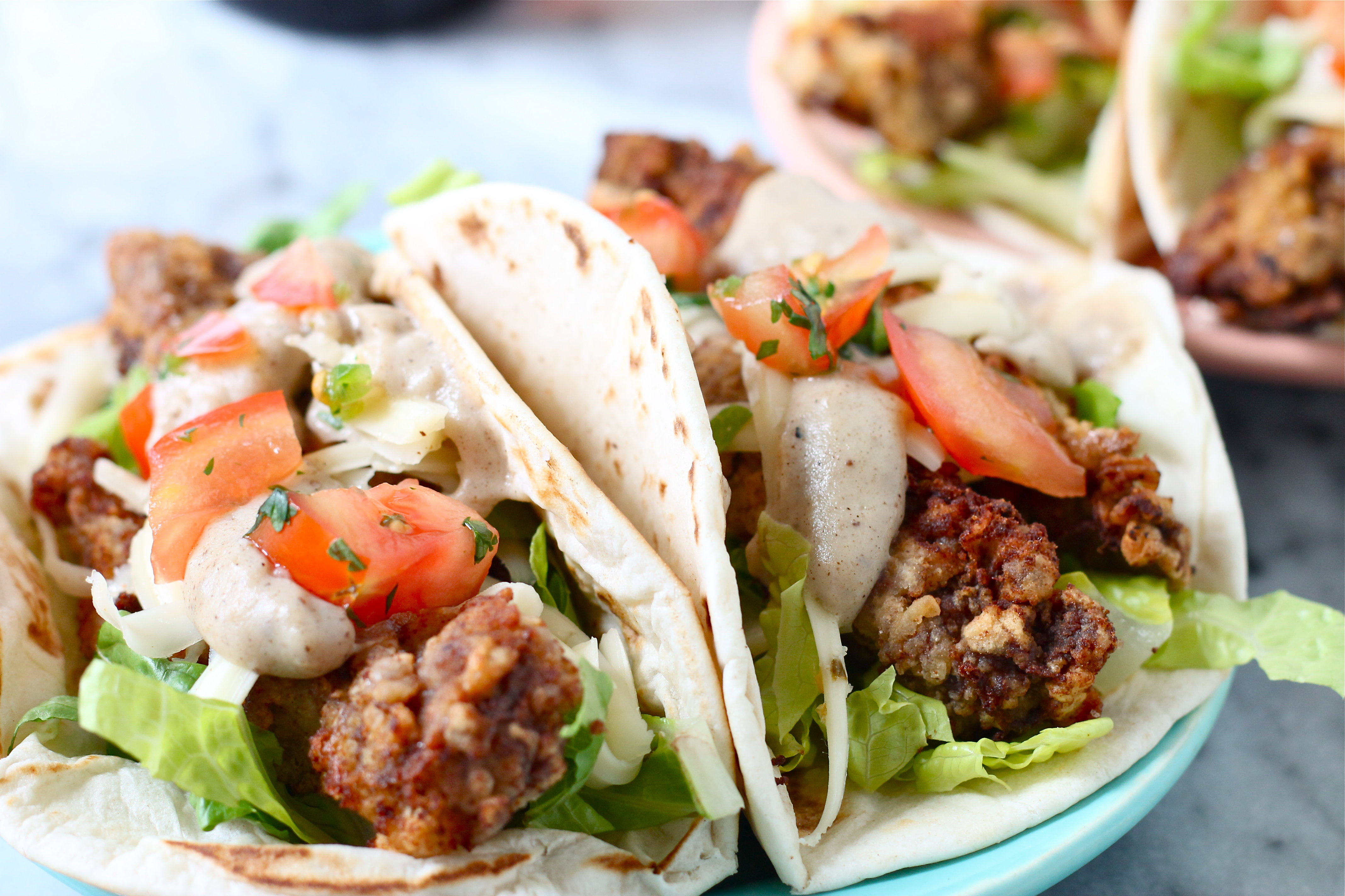 Chicken Fried Steak Tacos Perpetually Hungry