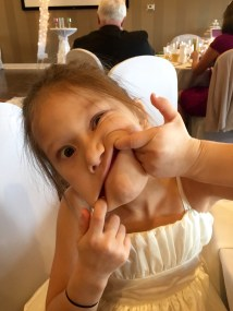 This is Kylie, my younger sister, also at the wedding. I told her to make her best face. This is what she came up with 😂