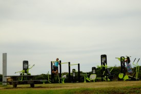 Open air gym along the coastal walk