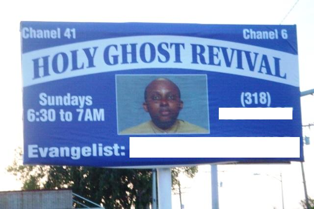 holy ghost revival billboard
