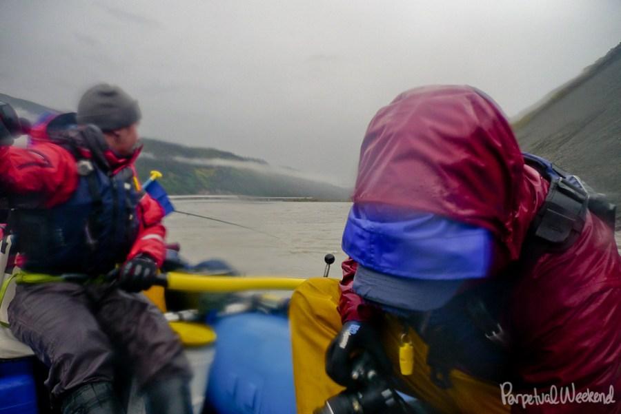 rainy day chitina river boating