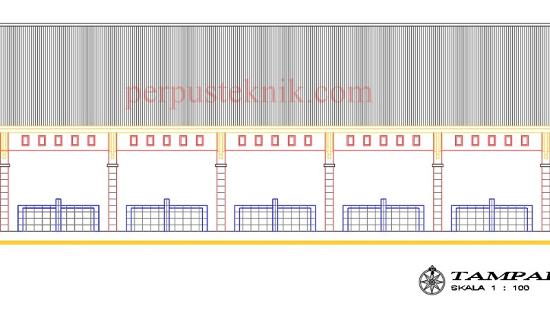 Download gambar pasar sederhana Uk. 21 x 8 DWG