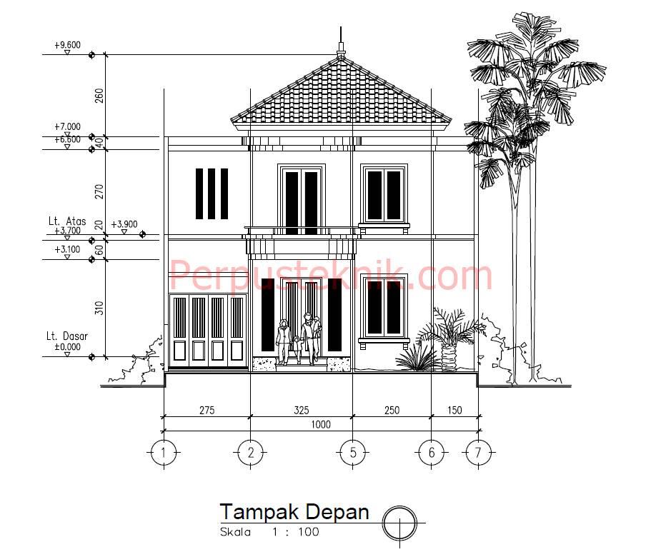 Desain Rumah 2 Lantai Dwg  download gambar rumah minimalis 2 lantai 10 x 20 dwg