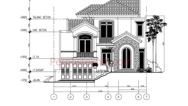 gambar Rumah 2 Lantai 1160 x 2565