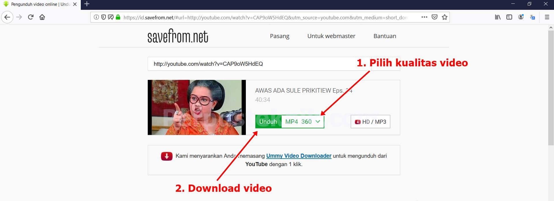 Cara download video youtube tanpa IDM !!