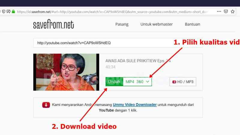 Cara download video youtube tanpa IDM !!