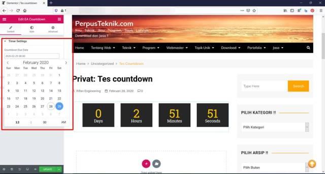 cara membuat countdown time