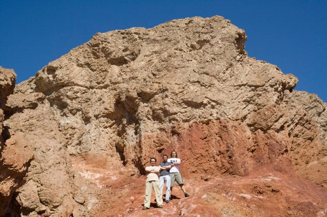 Afuera de Golden Canyon en el Valle de la Muerte, Nevada