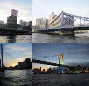 Puentes sobre el río Sumida, en Tokio