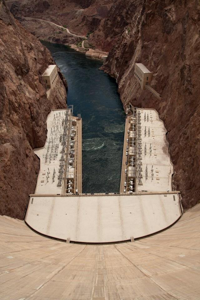 El curso del río Colorado tras la represa de Hoover