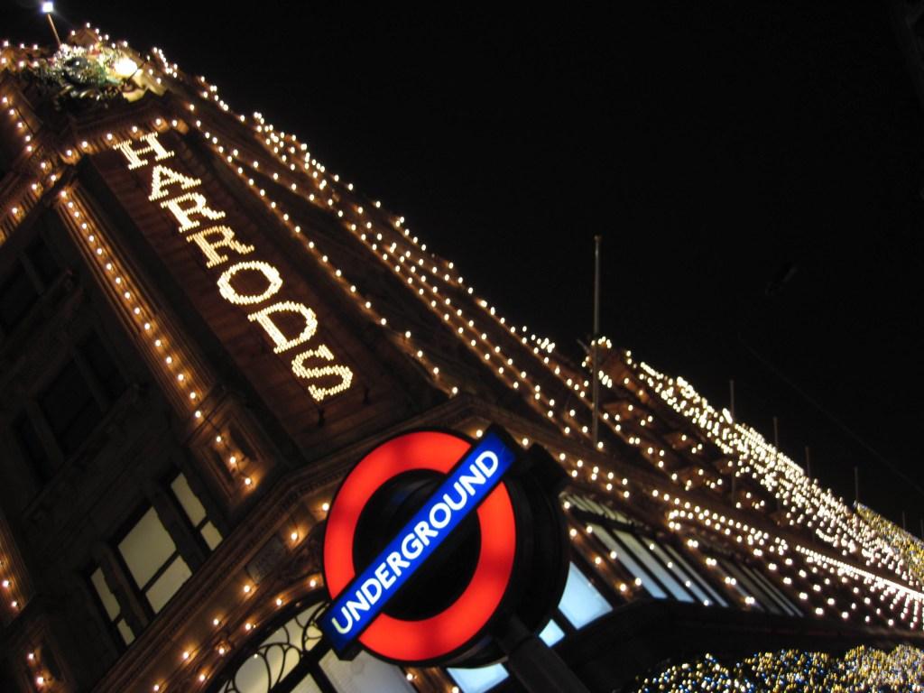 Luces navideñas en Harrods