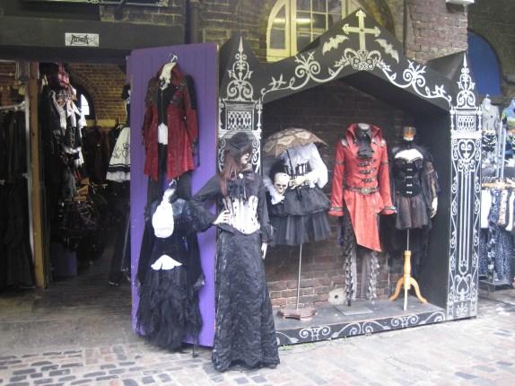Tienda gótica en Camden Market
