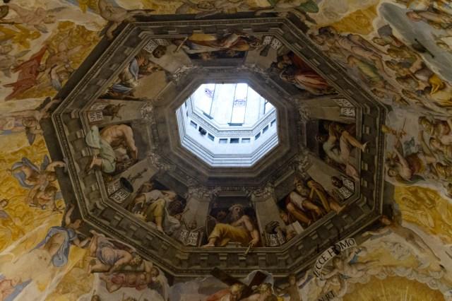 Interior de la cúpula del Duomo de Florencia
