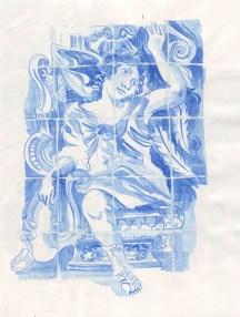 Un azuleijos de l'église São Vicente de Fora