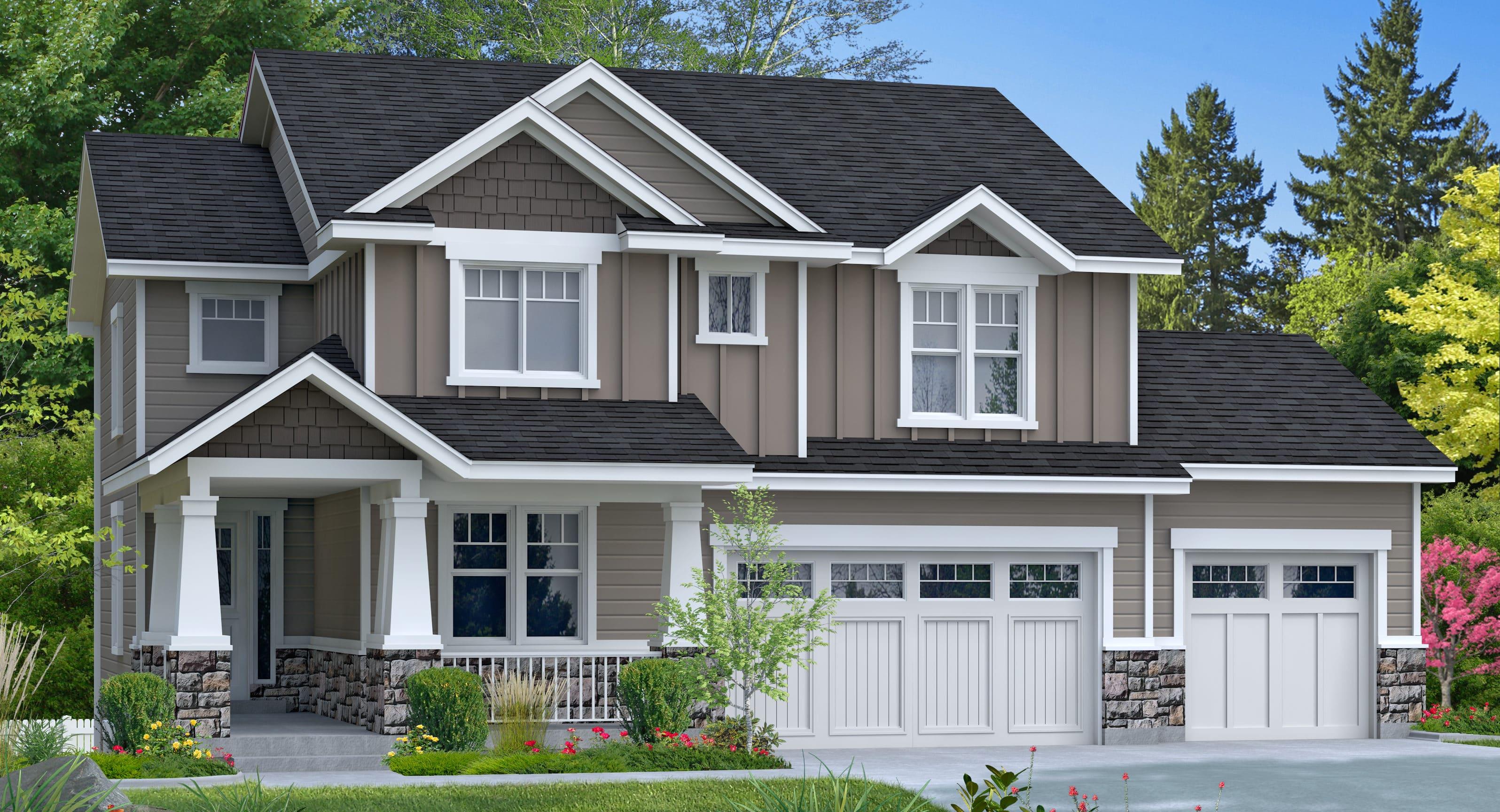 The Cottonwood floor plan custom designed by Perry Homes Utah.