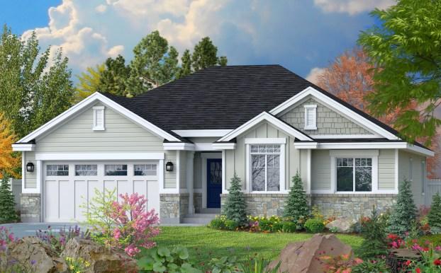 The Roosevelt floor plan is designed by Perry Homes, Utah.