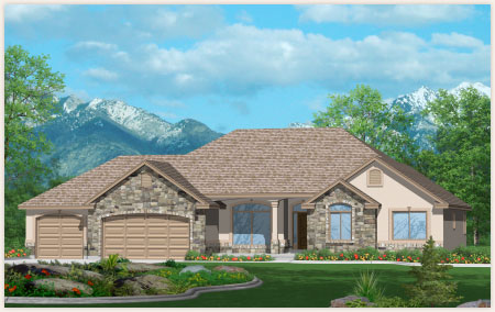 Elm is a custom home designed by Perry Homes, Utah.