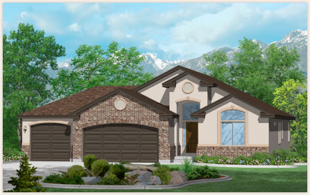 Fillmore is a custom home created by Perry Homes, Utah.