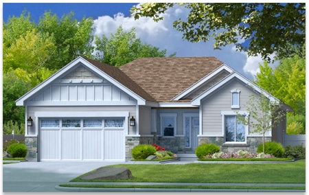 Harrison is a custom home created by Perry Homes, Utah.