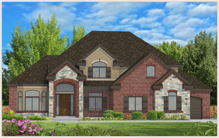 Miranda floor plan designed by Perry Homes Utah.