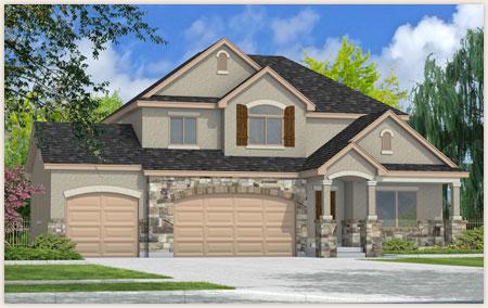 The Sage floor plan designed by Perry Homes, Utah.