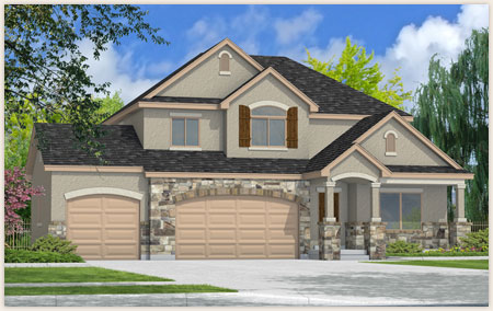 The Sage floor plan designed by Perry Homes, Utah.