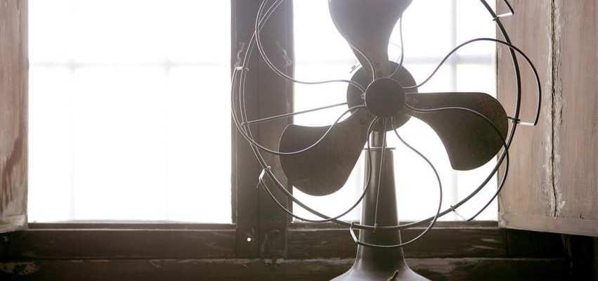Utah home builder vintage fan