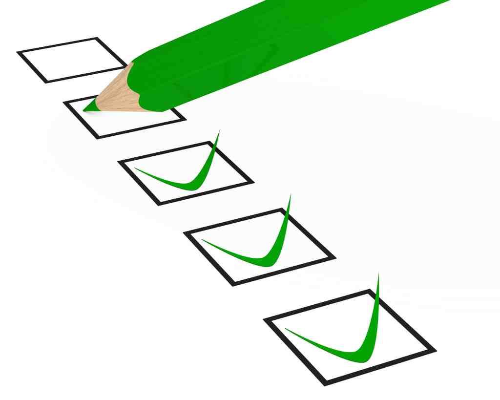 child's well checklist