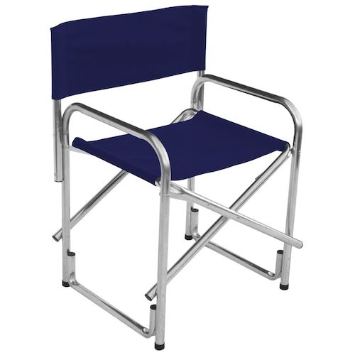 Navy Blue Director Chair with arms  Marquee Hire Wedding