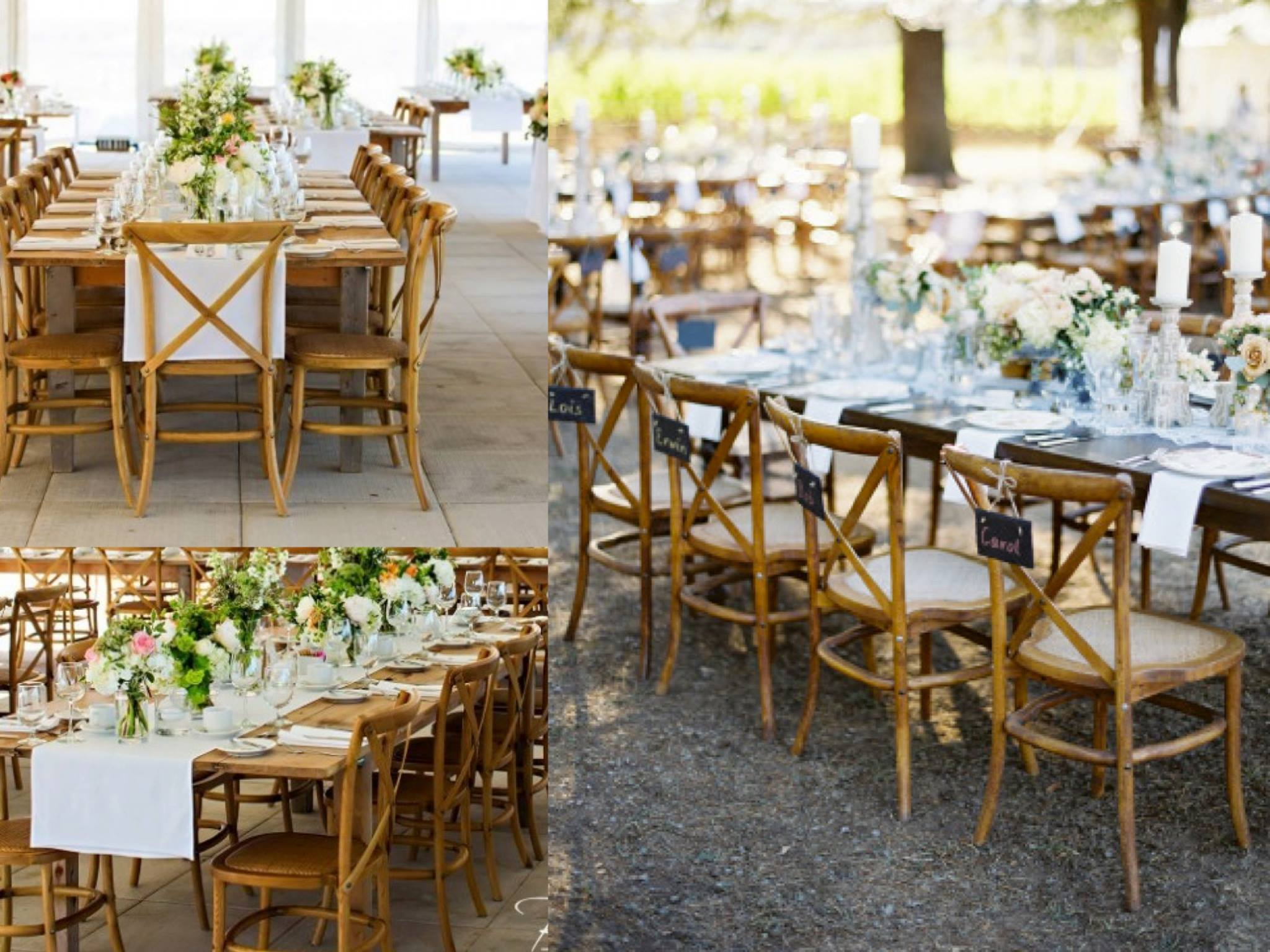chairs wedding hire beans for bean bag timber chair hampton cross back