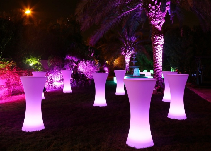 chair covers hire wholesale sofa armchair glow upright bar - led illuminated lighting   perry's sunshine coast event