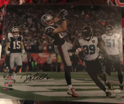 Signed photograph of New Eng;and Patriots wide received Danny Amendola