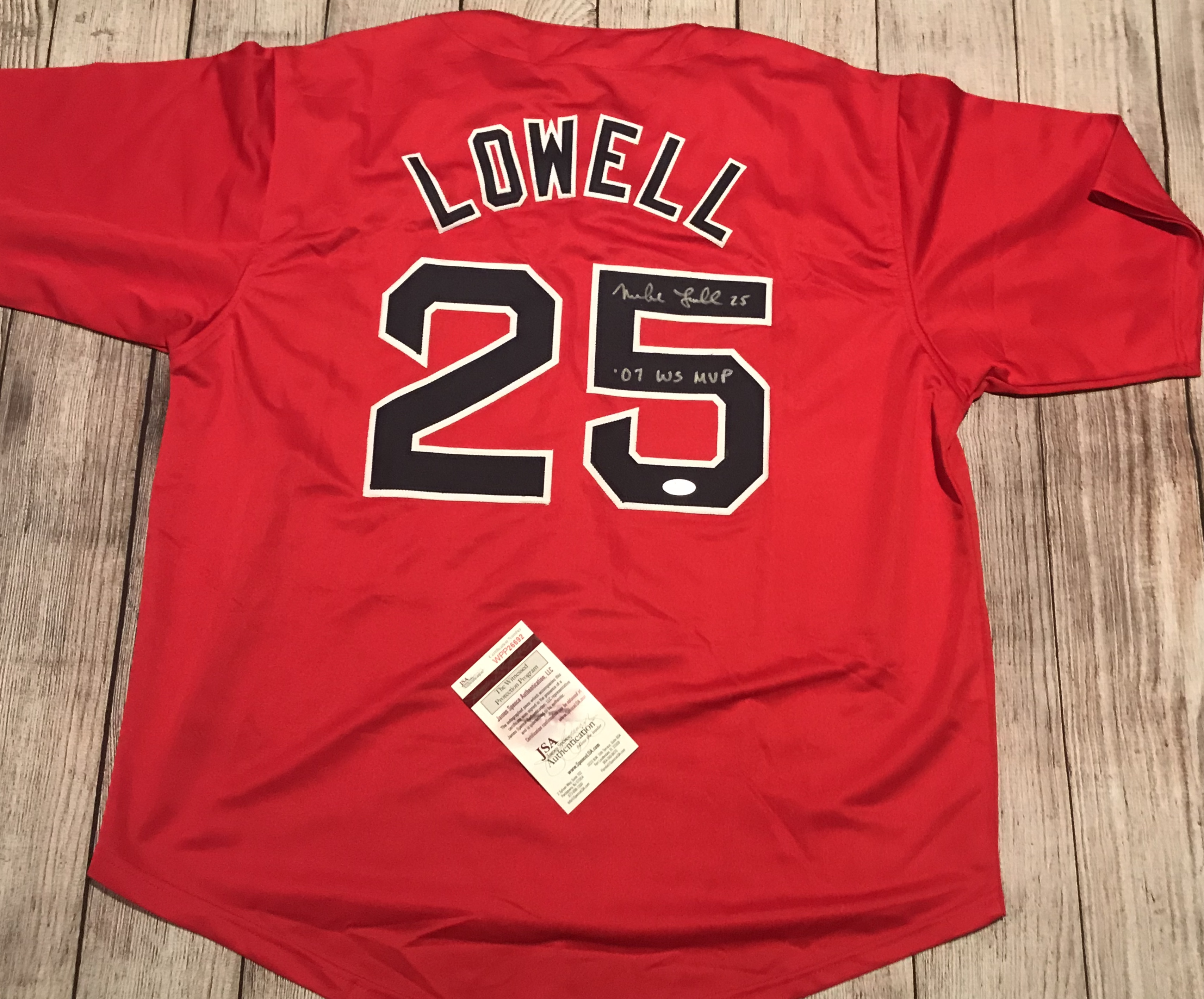 Mike Lowell signed jersey – Perry Sports Legends e8eb812c644