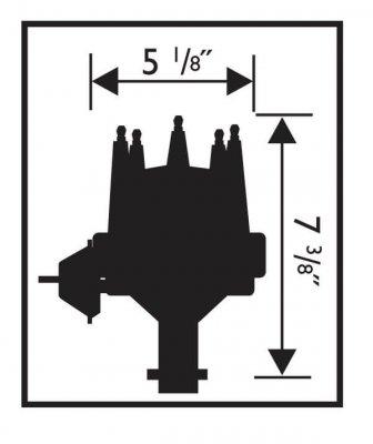 MSD Street Pro-Billet fördelare med vakuum, Chevy SB/BB