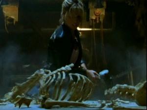 Buffy smashes the master's bones.