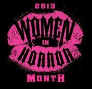 Women in Horror Month logo.