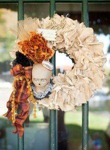 Vintage Halloween Book Wreath by QuiltedPolkaDot, $65.00