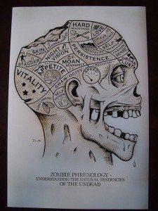 Zombie Phrenology Scientific Anatomy Print by Menagerie1890, $14.99
