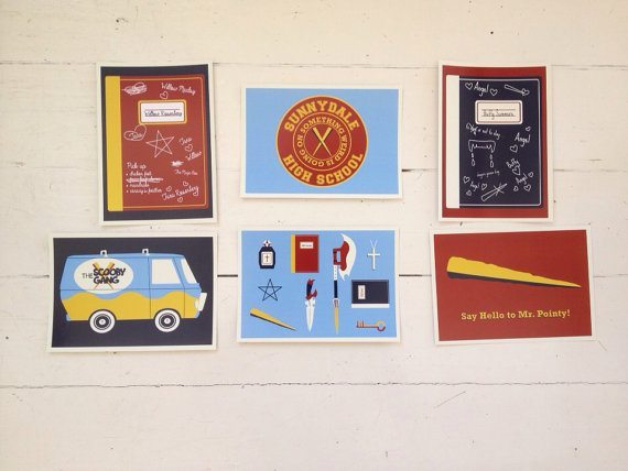 buffy postcards