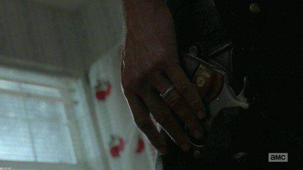 Rick's wedding ring and gun