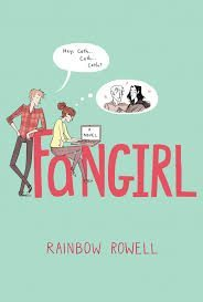 """The cover of """"Fangirl"""" by Rainbow Rowell."""