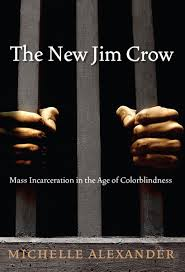 """Cover of """"The New Jim Crow"""" by Michelle Alexander."""