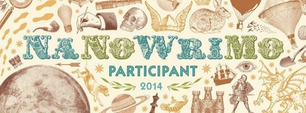 "A graphic stating ""NaNoWriMo Participant 2014"""