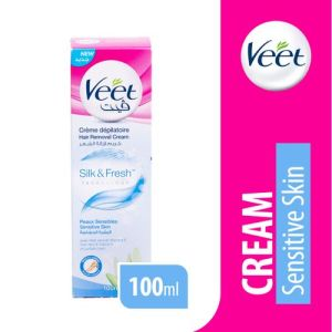 Veet كريم إزالة الشعر للبشرة الحساسة - 100 ملم