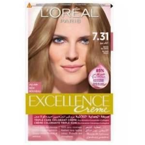 لوريال باريس صبغة الشعر الرائعة إكسيلانس كريم - 7.31 أشقر بيج