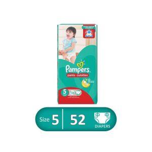 Pampers حفاظات بامبرز بيبي بانتس - مقاس 5 - 52 قطعة