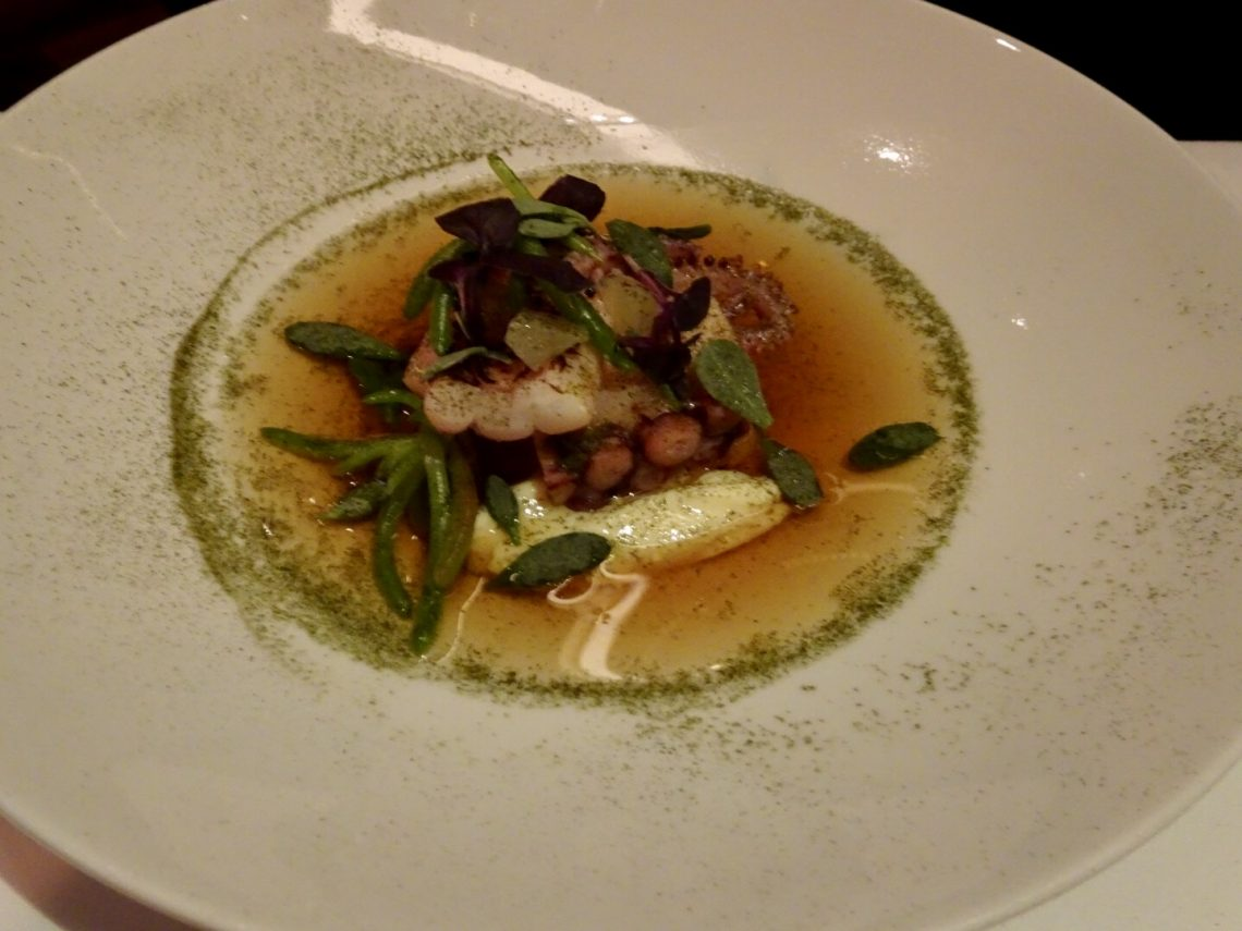 Octopus and Squid Consomme Starter