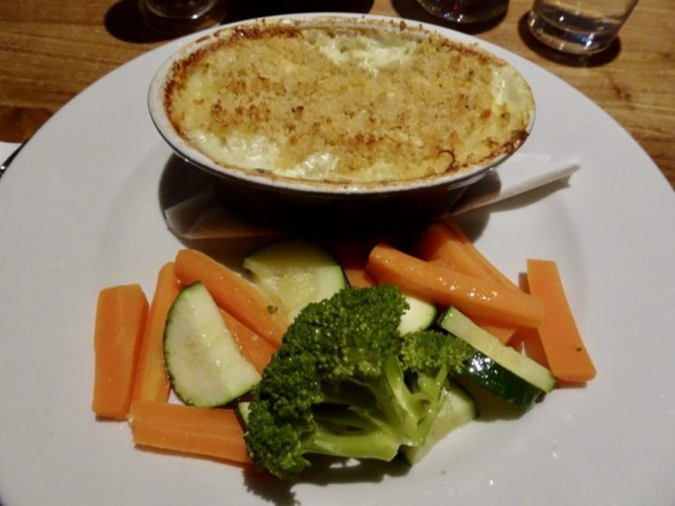 Fish Pie and egetables