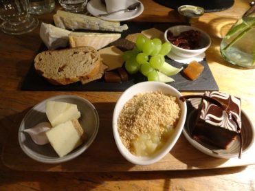Selection of Mini Desserts with Cheese Plate